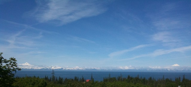 Mt Iliamna and Mt Redoubt