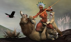 african_huntress_by_roboman28-d4n4i6u